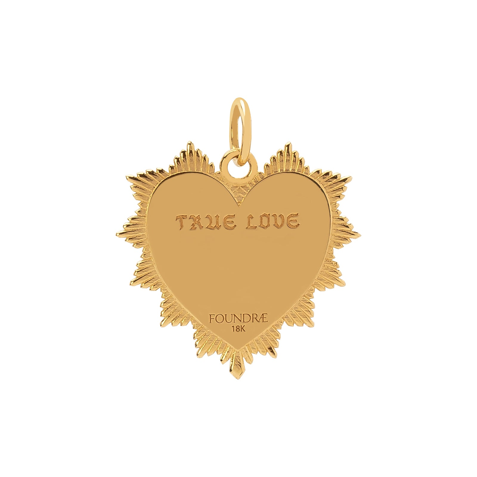 Foundrae True Love Knot Heart Token Medallion - Charms & Pendants - Broken English Jewelry