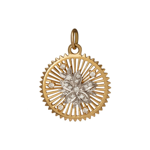Mille Fleur Medallion - Foundrae - Charms & Pendants | Broken English Jewelry