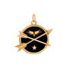 Foundrae Crossed Arrows Enamel Medallion - Medium - Charms & Pendants - Broken English Jewelry