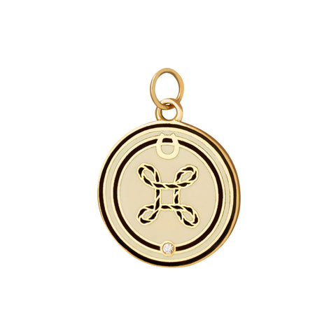 True Love Enamel Medallion - Charms & Pendants - Broken English Jewelry