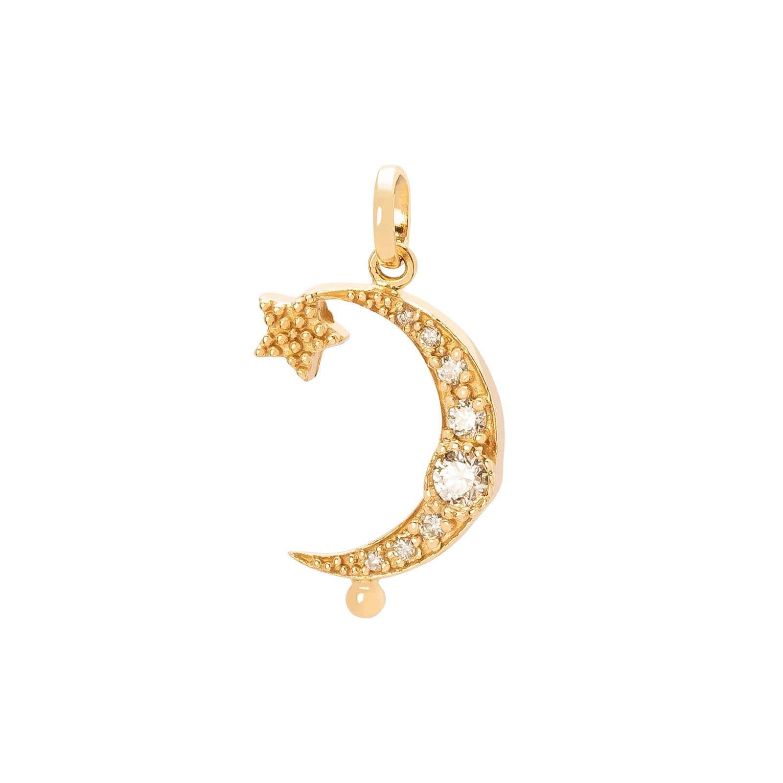 Carolina Neves Moon & Star Pendant - Charms & Pendants - Broken English Jewelry