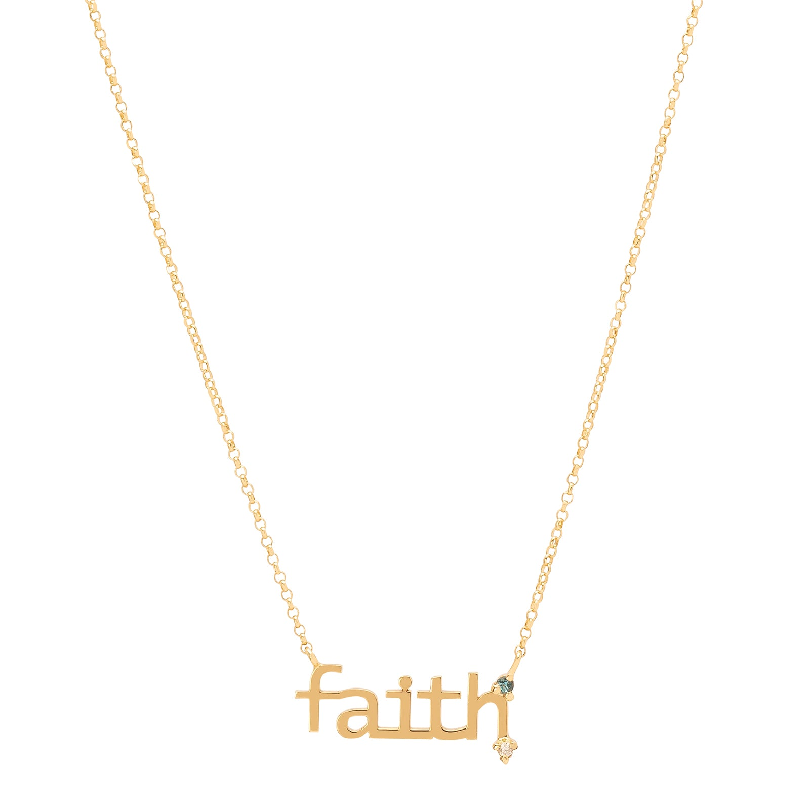 Carolina Neves Faith Necklace - Necklaces - Broken English Jewelry