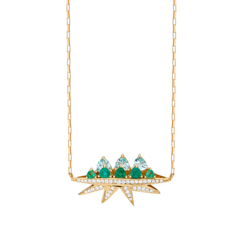 Emerald Electra Necklace - Carol Kauffman - Necklaces | Broken English Jewelry