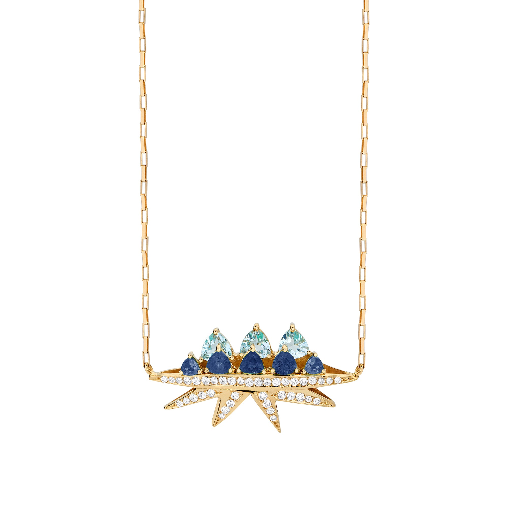 Sapphire Electra Necklace - Carol Kauffman - Necklaces | Broken English Jewelry