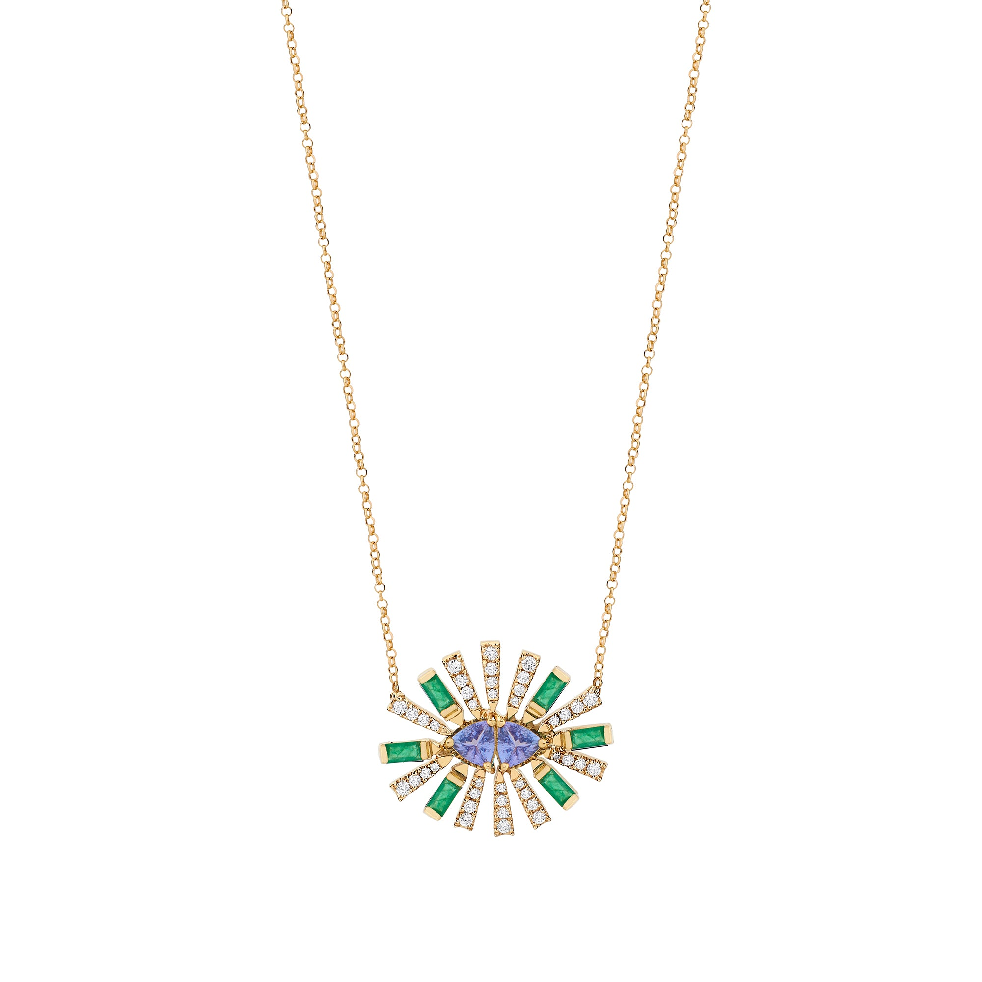 Emerald Double Sunshine Necklace - Carol Kauffman - Necklaces | Broken English Jewelry
