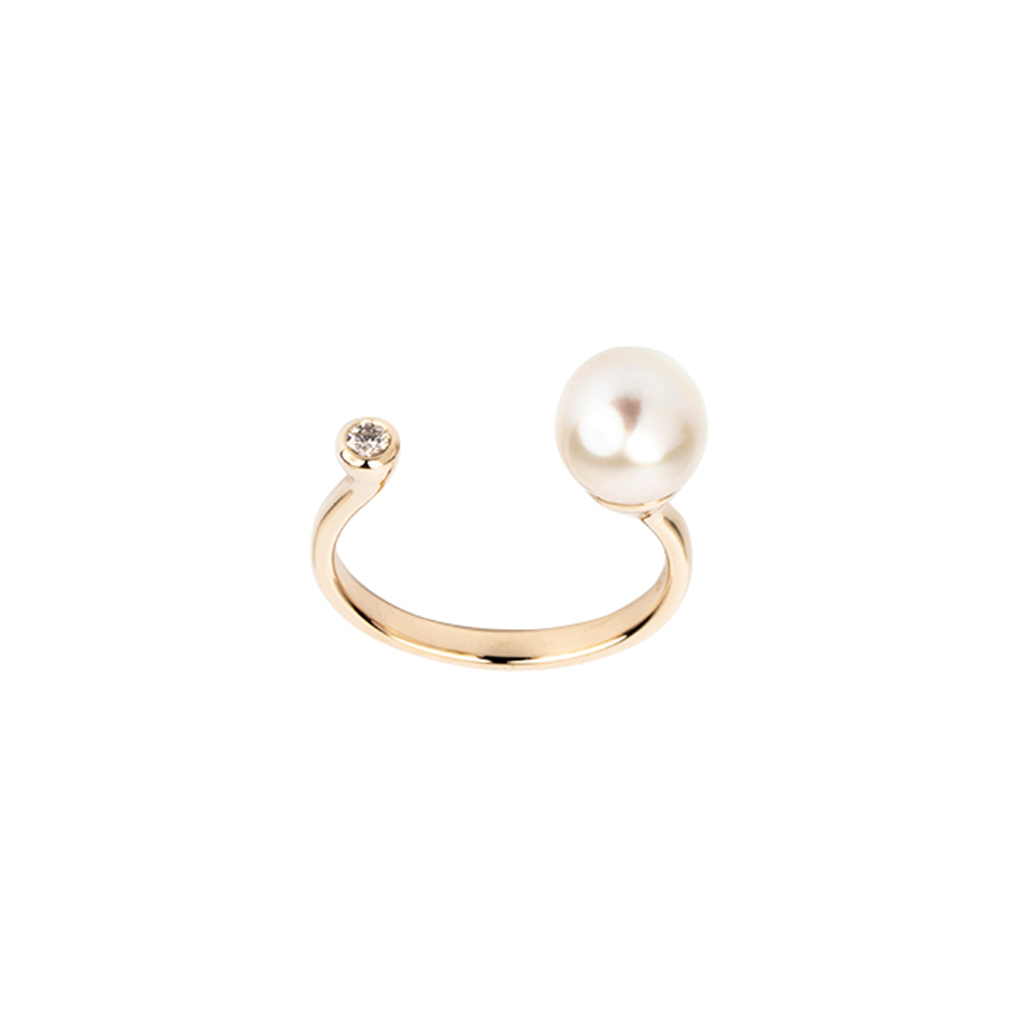 Hirotaka South Sea Pearl & Diamond Ring - Rings - Broken English Jewelry