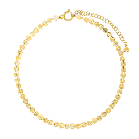 Gold & White Diamond Hinged Link Flex Choker by Cresta Bledsoe for Broken English Jewelry