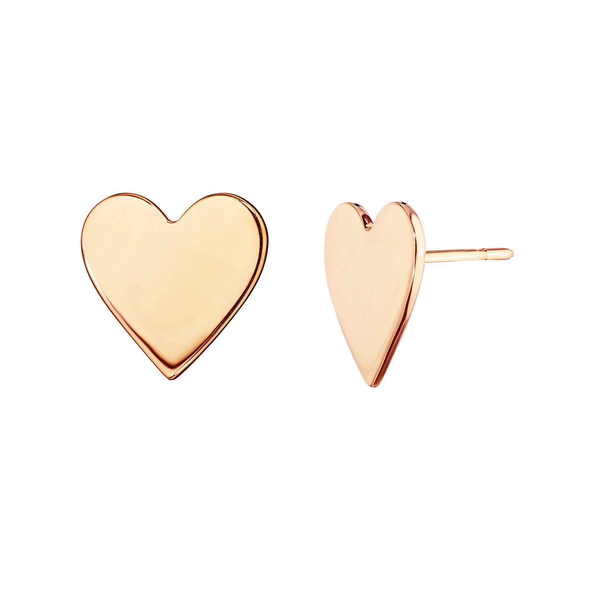 Medium Endless Heart Studs - Cadar - Earrings | Broken English Jewelry