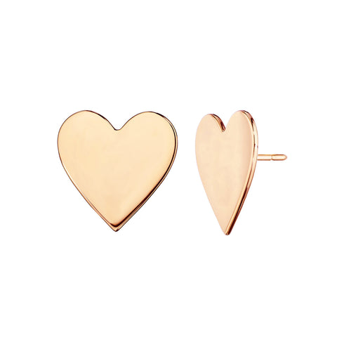 Large Endless Heart Studs - Cadar - Earrings | Broken English Jewelry