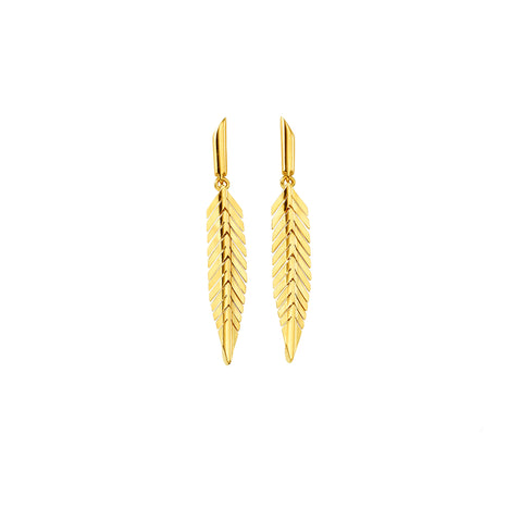 Small Feather Earrings - Cadar - Earrings | Broken English Jewelry
