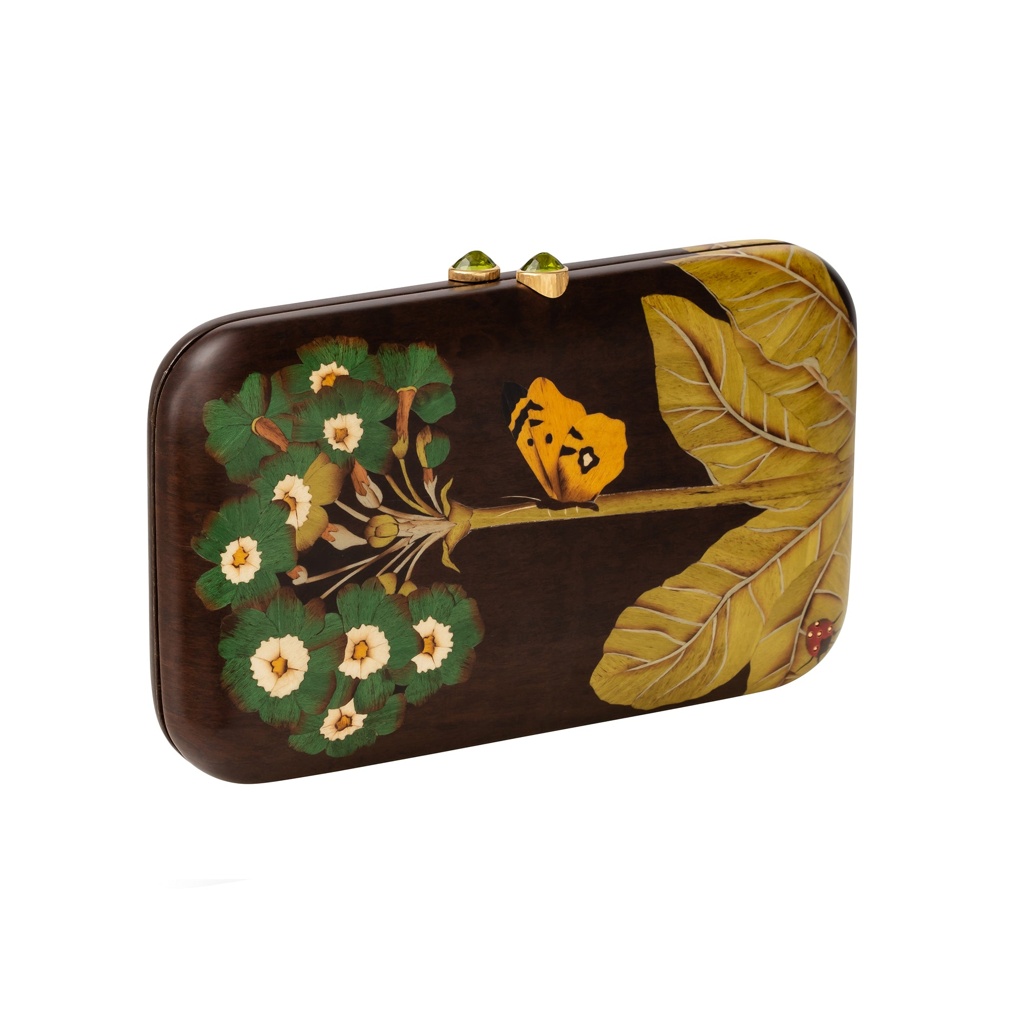 Marquetry Butterfly & Ladybug Clutch - Silvia Furmanovich - Accessories | Broken English Jewelry