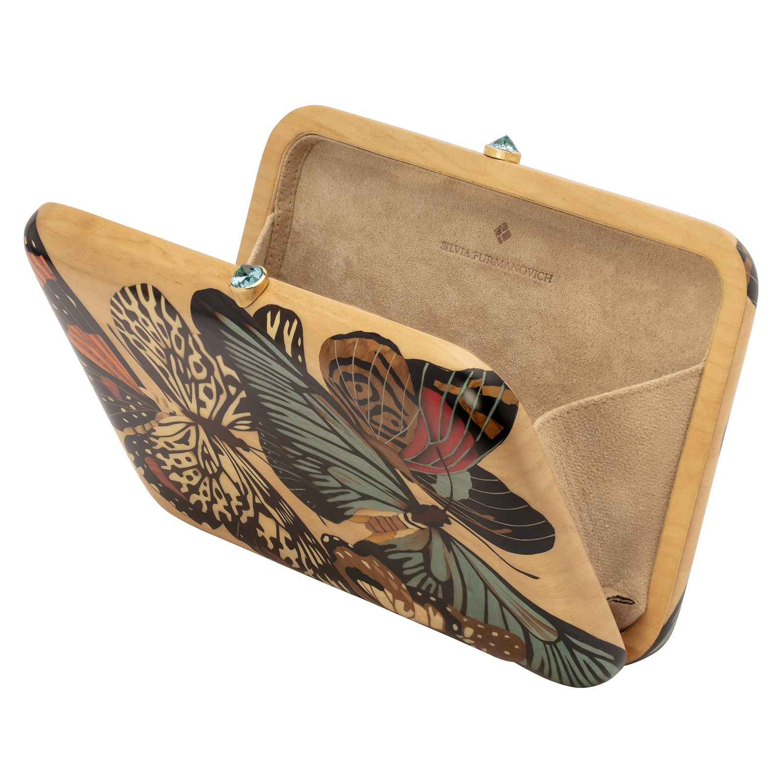 Silvia Furmanovich Marquetry Butterfly Clutch - Accessories - Broken English Jewelry