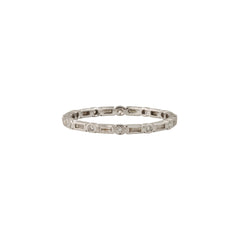 Diamond Baguette Bezel Eternity Band