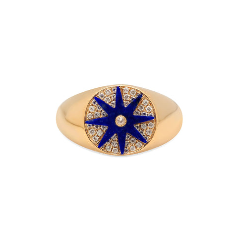 Lapis Blue Star Ring by Colette for Broken English Jewelry