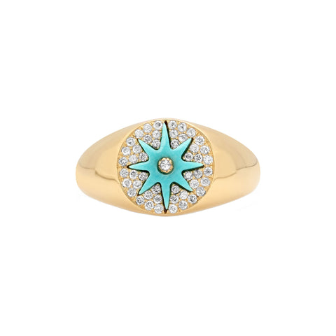 Turquoise Blue Star Ring by Colette for Broken English Jewelry