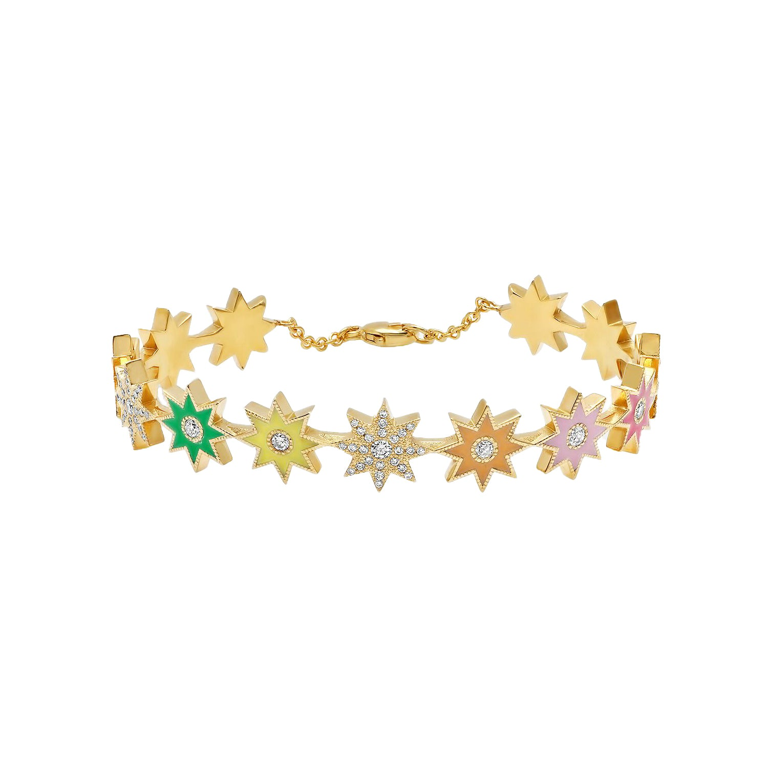 Multicolor Enamel Star Bracelet by Colette for Broken English Jewelry