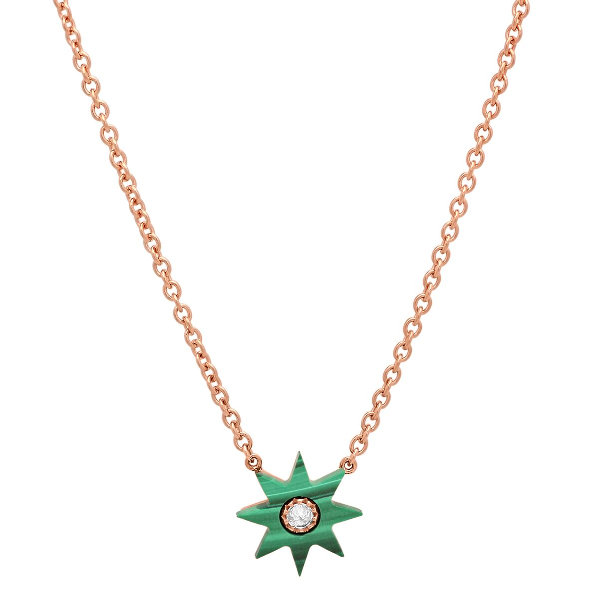 Malachite Star Necklace by Colette for Broken English Jewelry