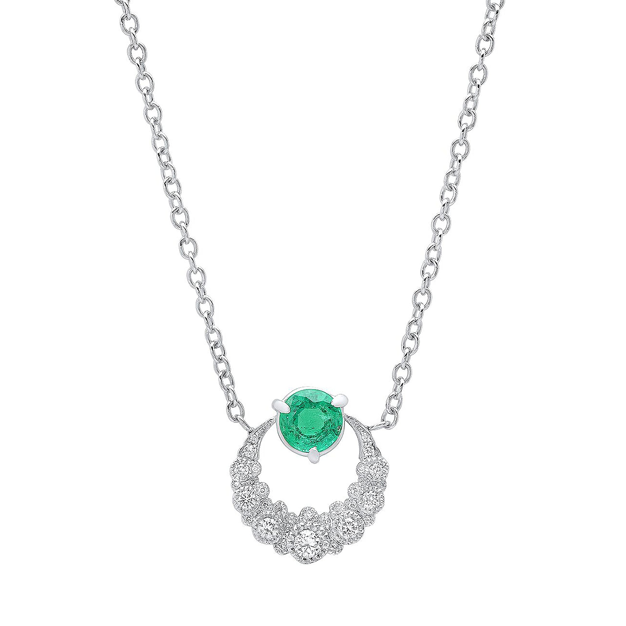 Emerald Moon Pendant Necklace by Colette for Broken English Jewelry