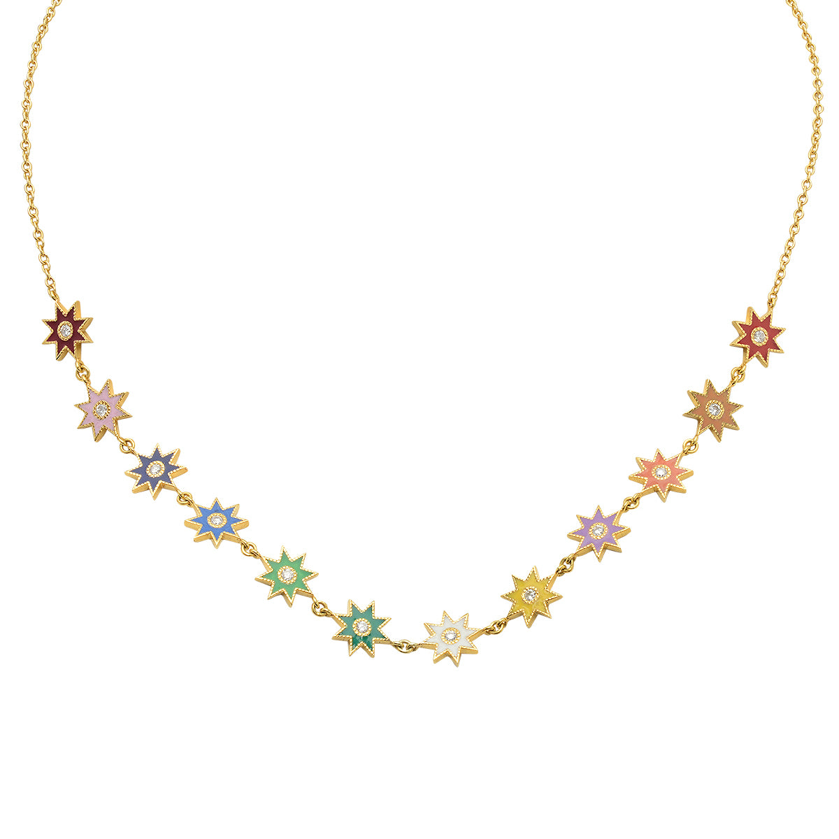 Enamel Star Necklace by Colette for Broken English Jewelry