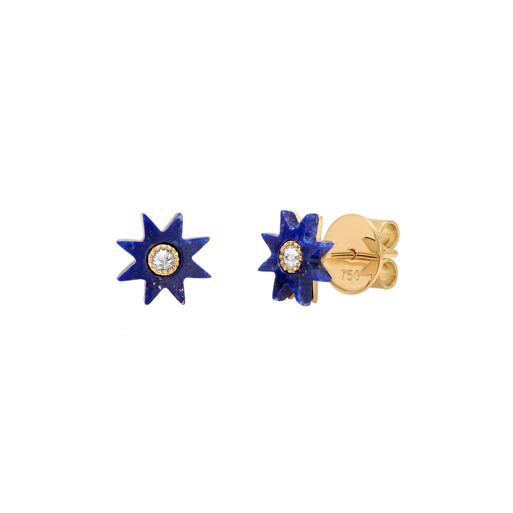 Lapis Blue Star Studs by Colette for Broken English Jewelry