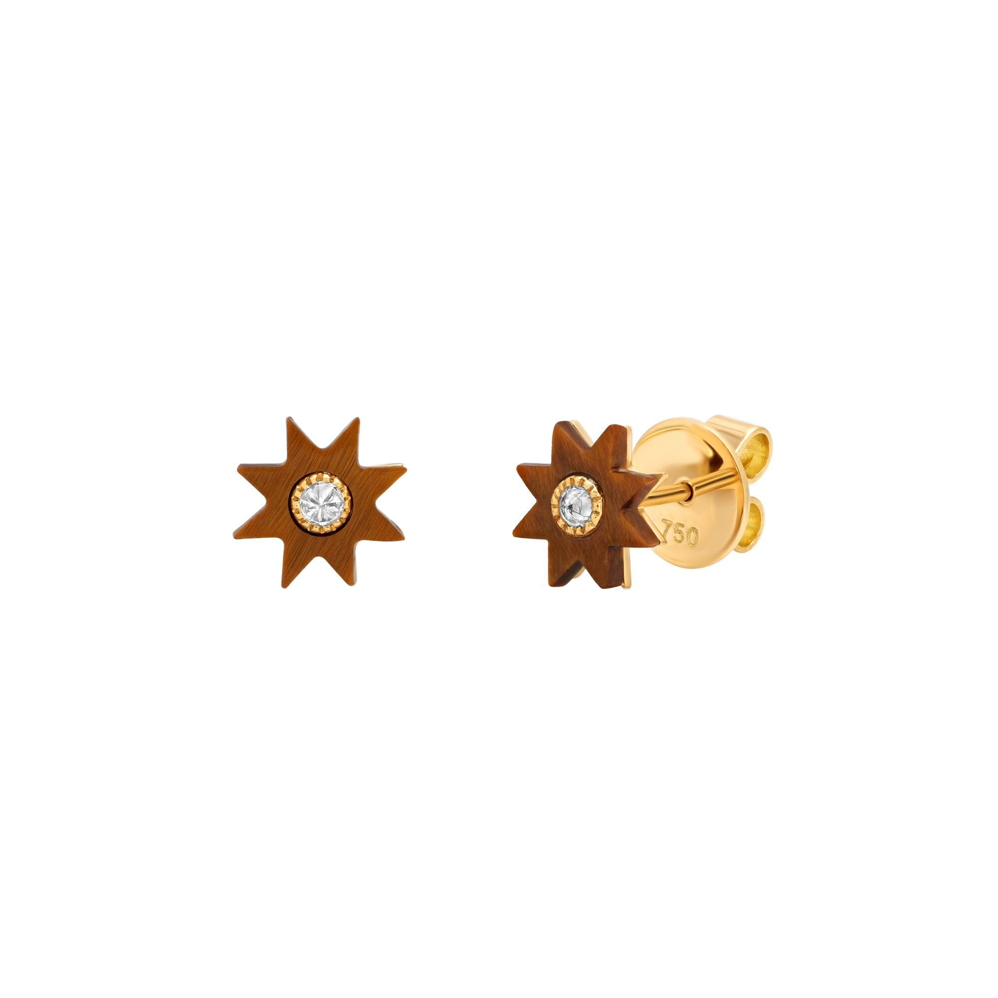 Tiger Yellow Star Studs by Colette for Broken English Jewelry