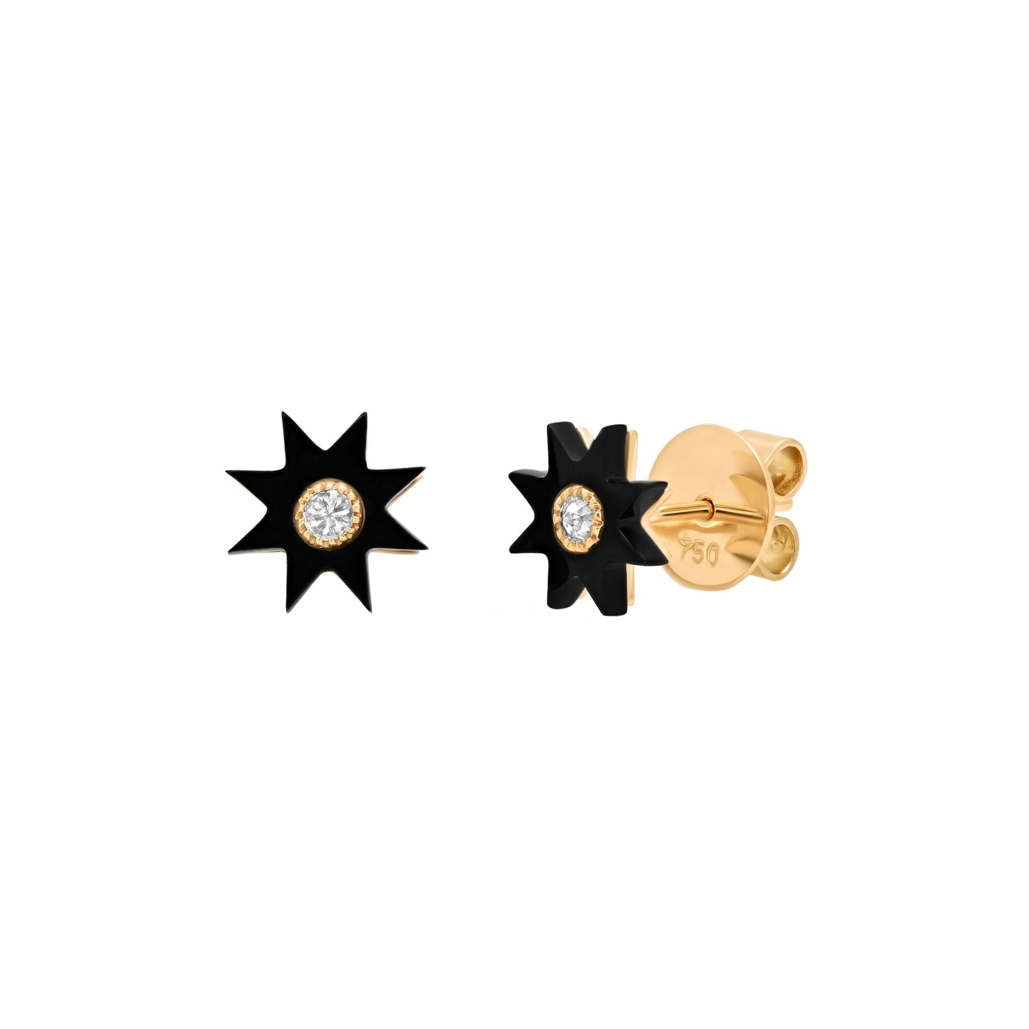 Onyx Black Star Studs by Colette for Broken English Jewelry