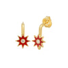 Red Star Drop Earrings by Colette for Broken English Jewelry