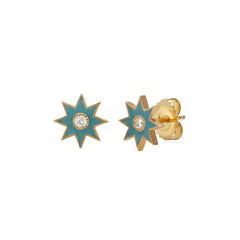Turquoise Star Studs by Colette for Broken English Jewelry