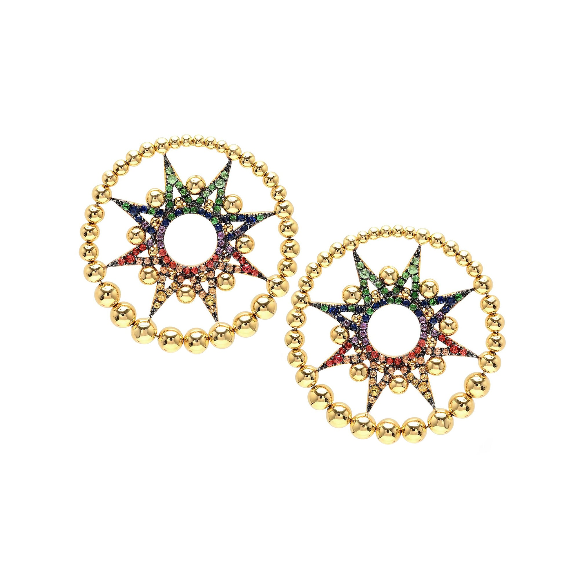 Multicolor Star Earrings by Colette for Broken English Jewelry