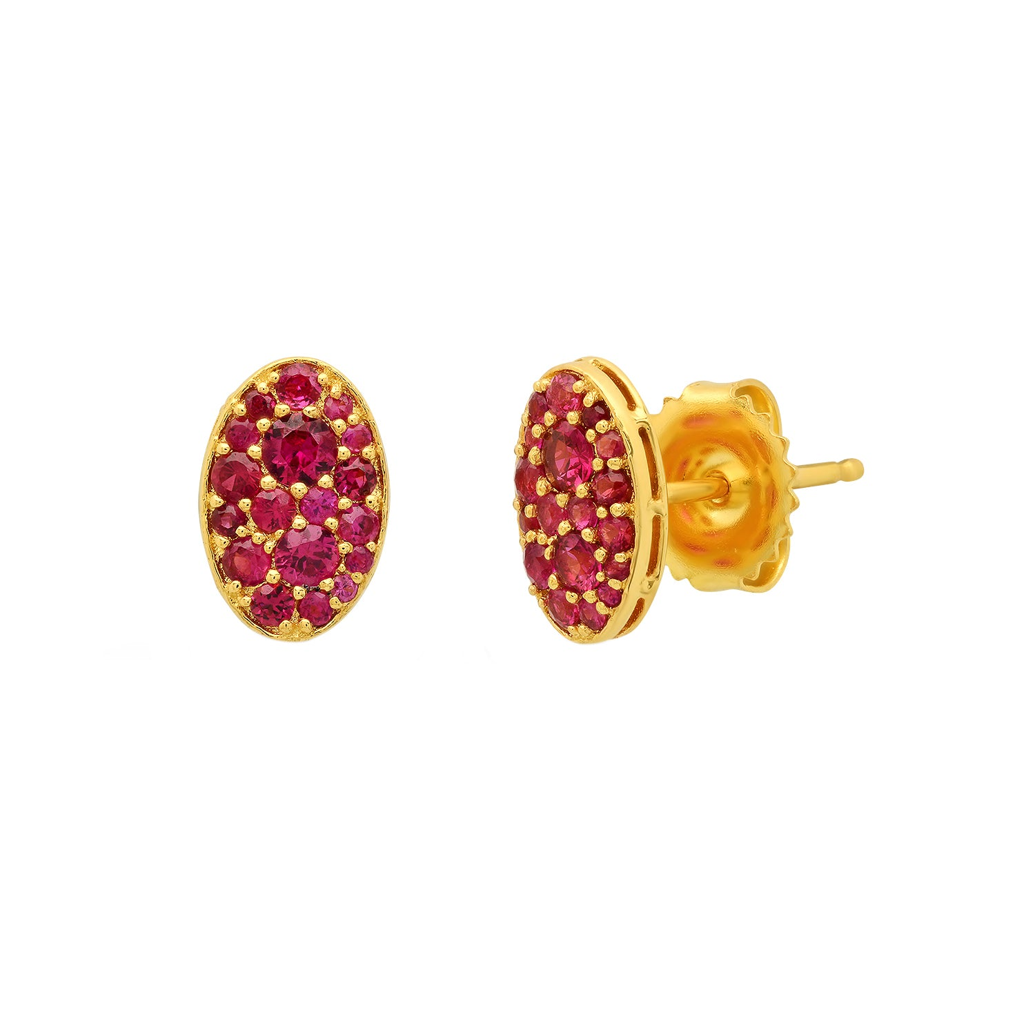 Ruby Oval Studs by Colette for Broken English Jewelry