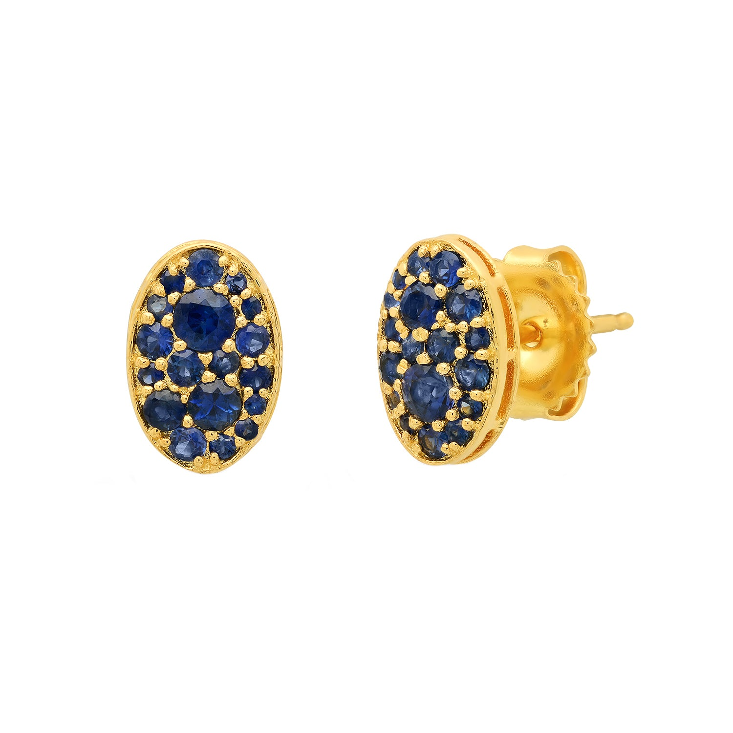 Sapphire Oval Studs by Colette for Broken English Jewelry