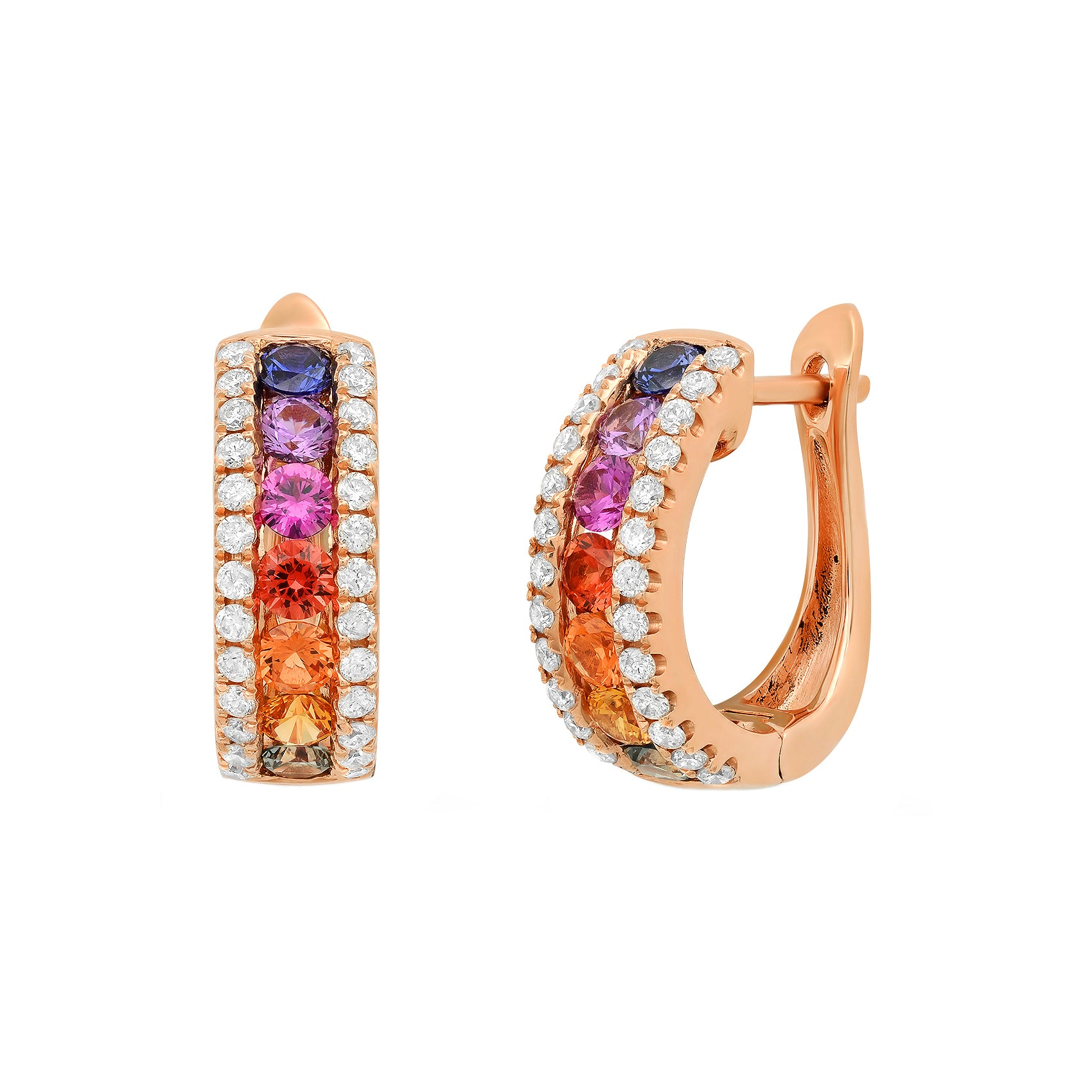 Multicolor Sapphire Hoops by Colette for Broken English Jewelry