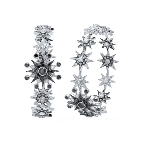 Star Hoop Earrings by Colette for Broken English Jewelry