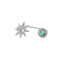Diamond and Malachite Earring by Colette for Broken English Jewelry