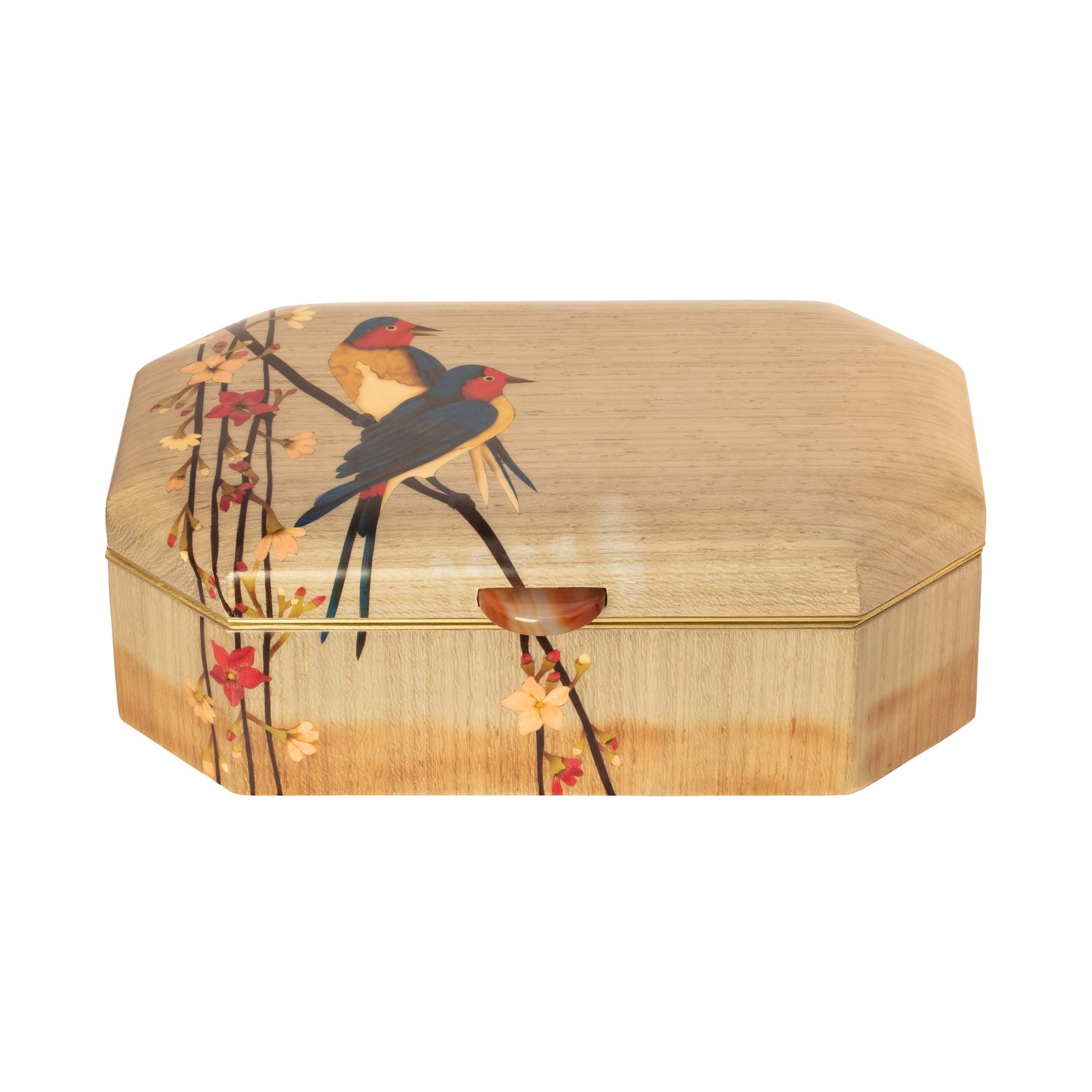 Silvia Furmanovich Marquetry Wood Jewlery Box - Birds - Home & Decor - Broken English Jewelry