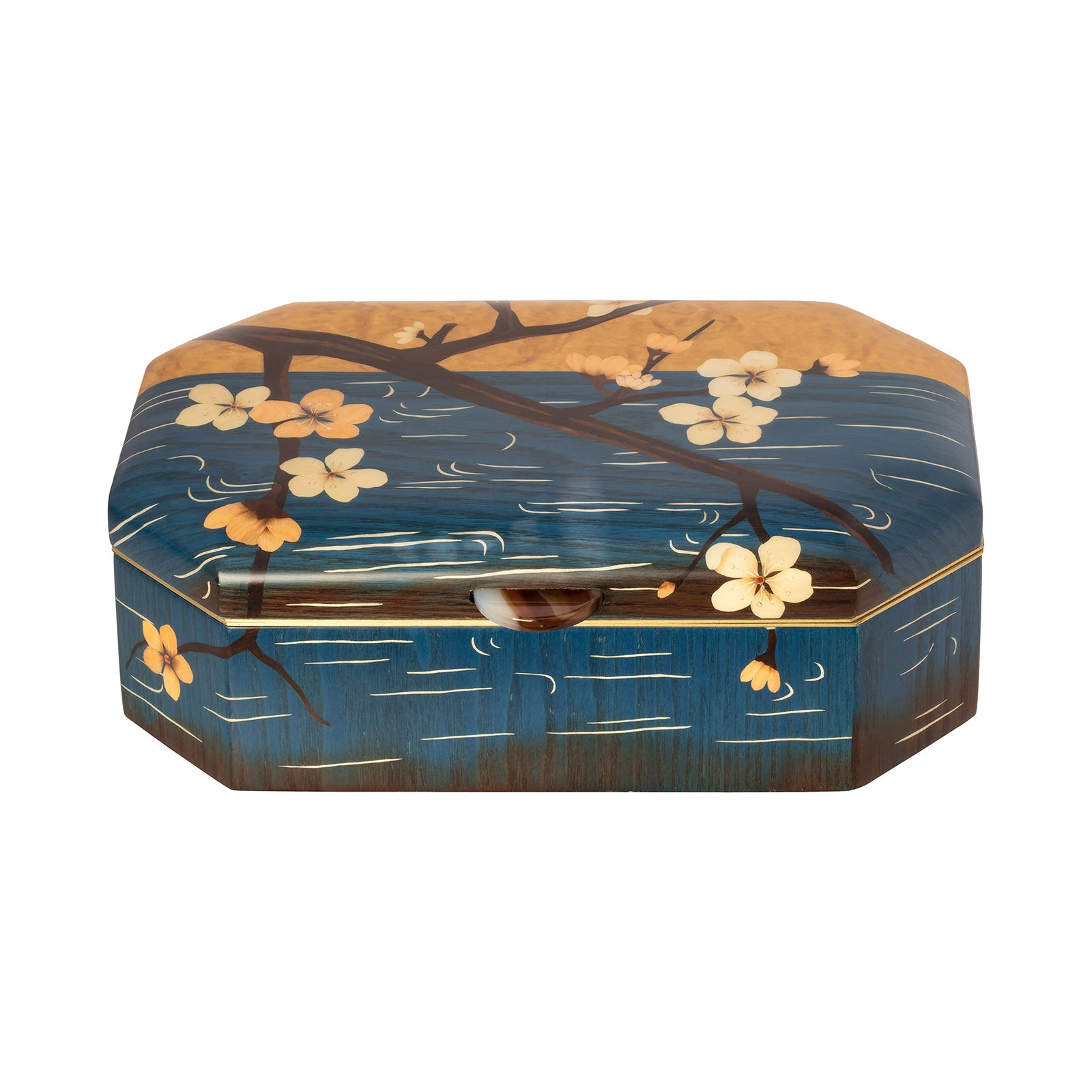 Silvia Furmanovich Marquetry Wood Jewelry Box - Cherry Blossom - Home & Decor - Broken English Jewelry