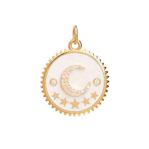 Crescent Charm by Foundrae for Broken English Jewelry