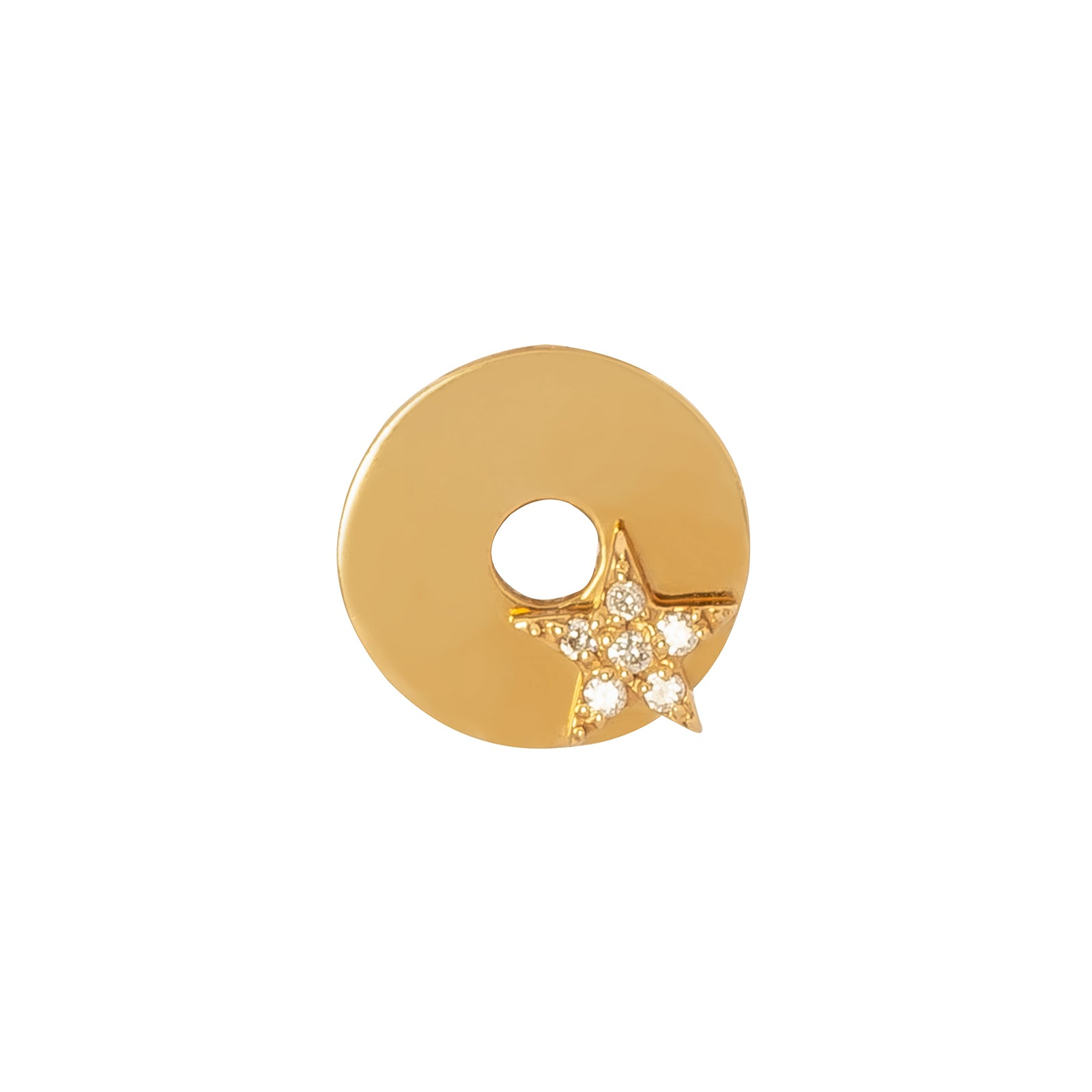 Foundrae Gold Star Disk - Charms & Pendants - Broken English Jewelry