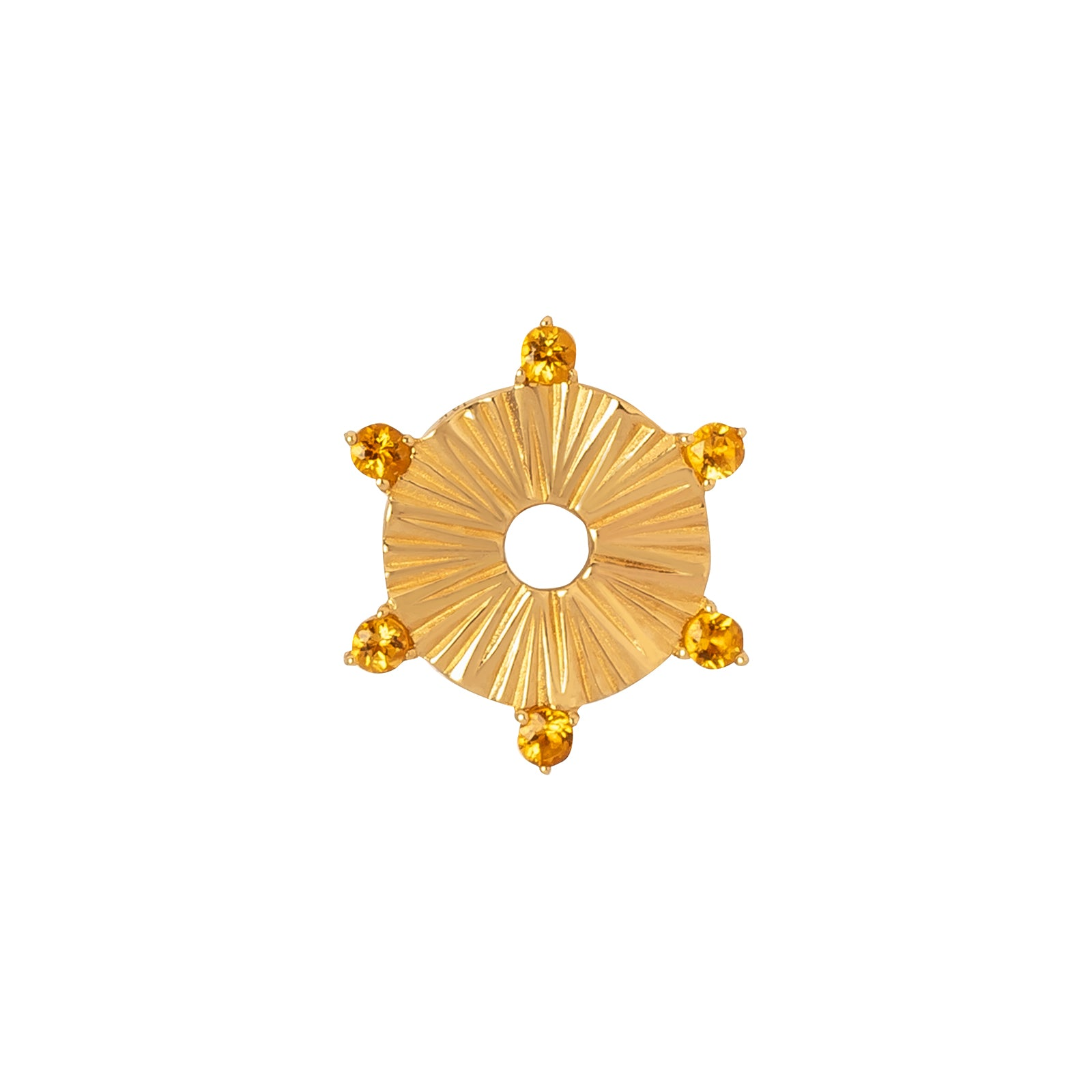 Foundrae Small Element Disk - Citrine - Charms & Pendants - Broken English Jewelry