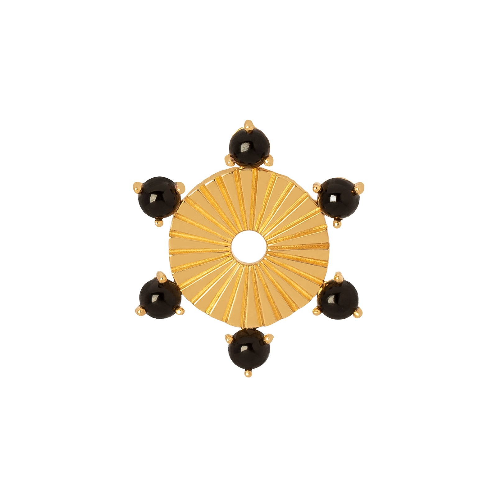 Foundrae Large Element Disk - Onyx - Charms & Pendants - Broken English Jewelry