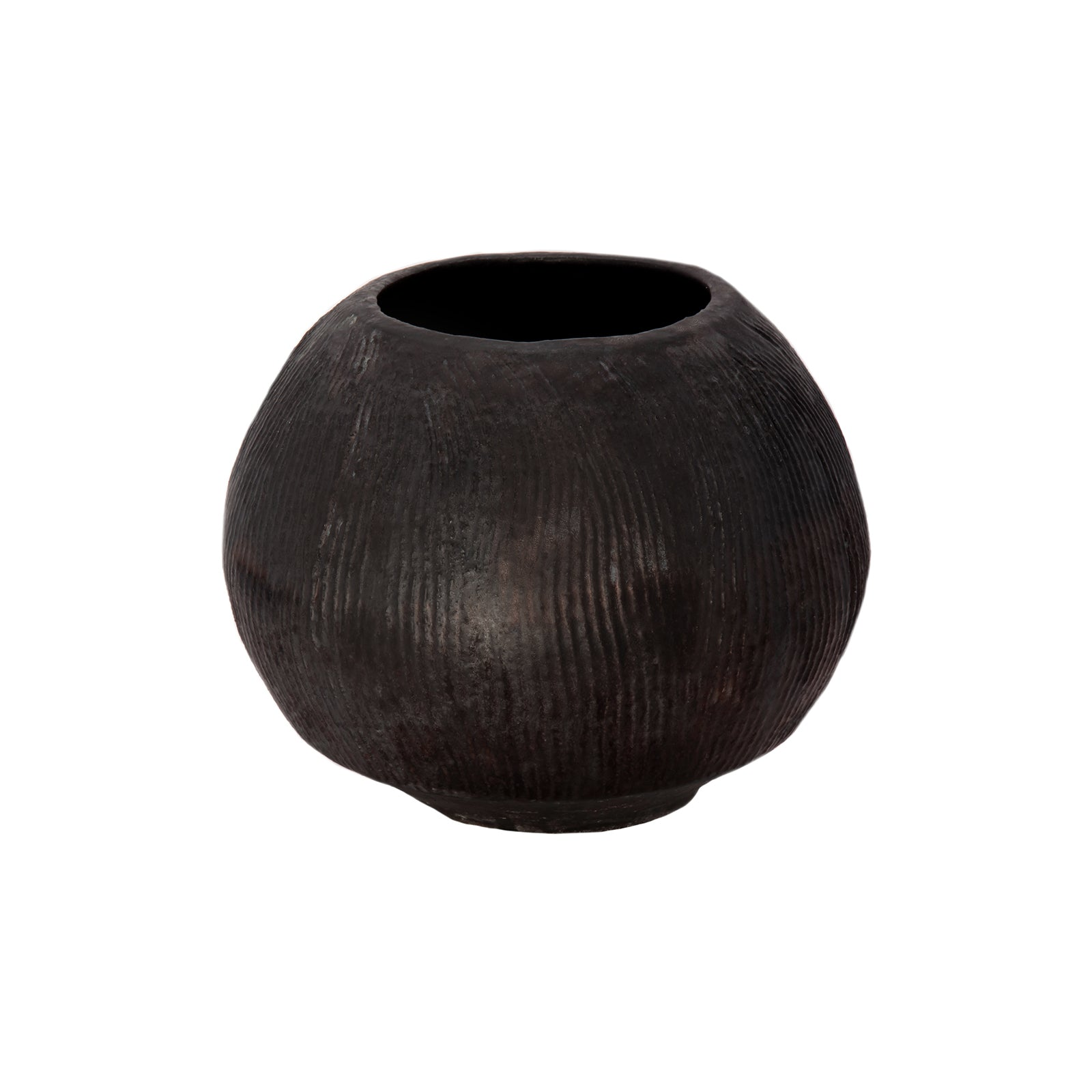 Alzamora Ceramics Black Fluted Vessel - Home & Decor - Broken English Jewelry