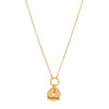 Foundrae Gold Arrow Disk Necklace - Necklaces - Broken English Jewelry