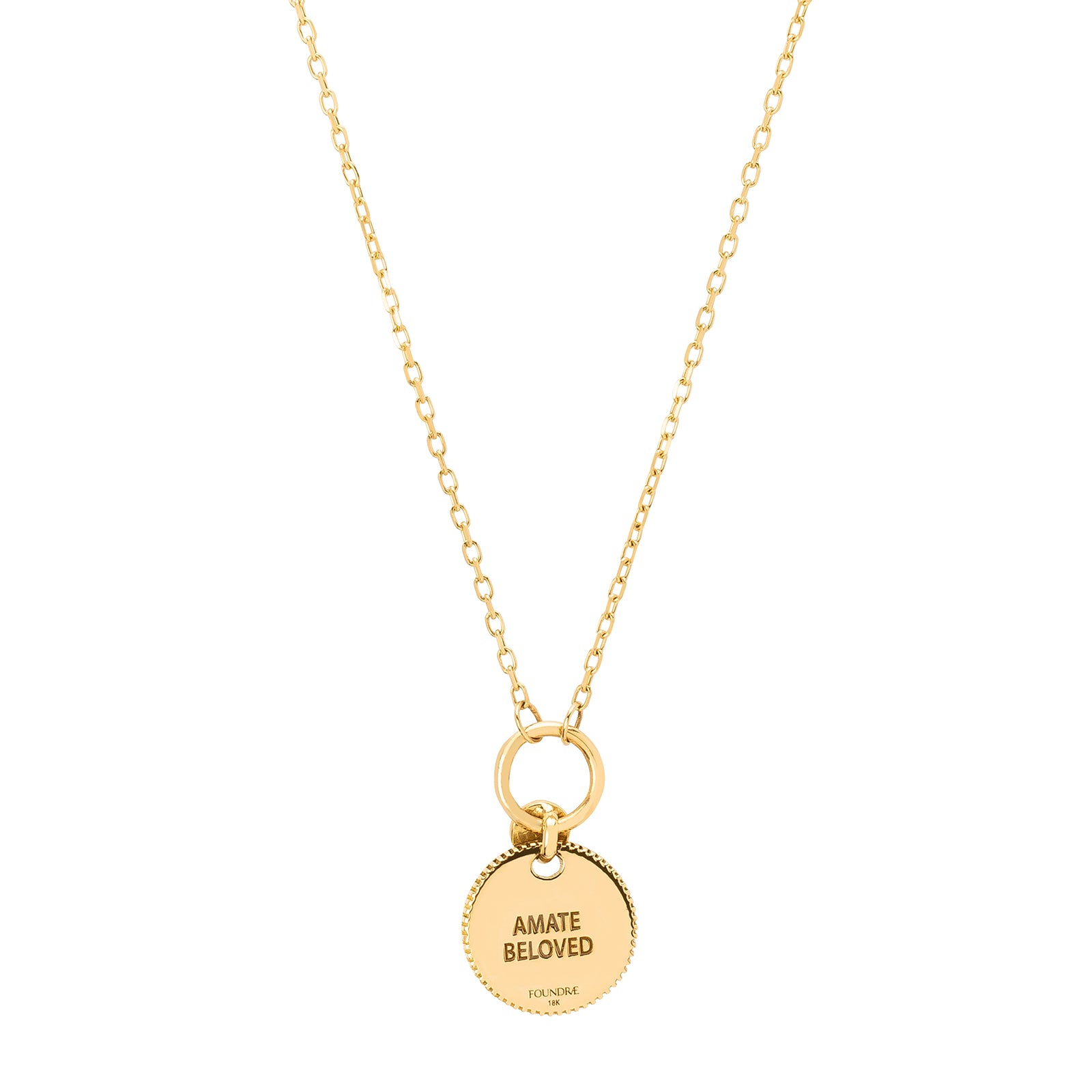 Foundrae Mini Coin Necklace - Amate - Necklaces - Broken English Jewelry