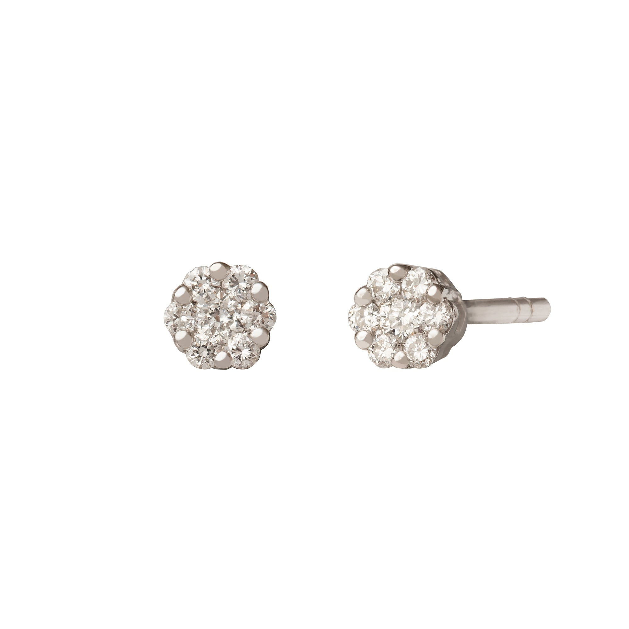 Cluster Diamond Stud Earring - Rosa de la Cruz - Earrings | Broken English Jewelry