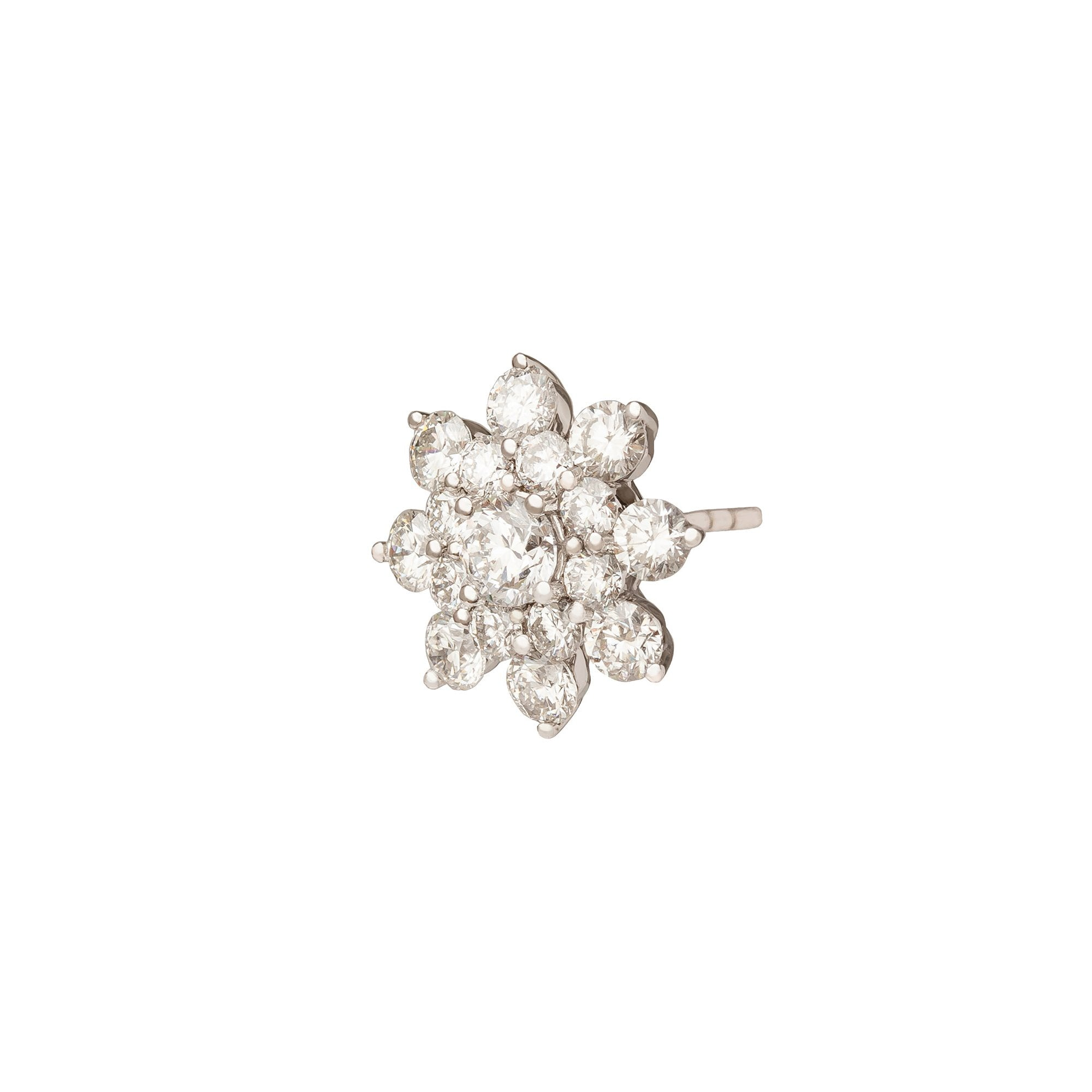 Flower Cluster Diamond Stud Earring - Rosa de la Cruz - Earrings | Broken English Jewelry