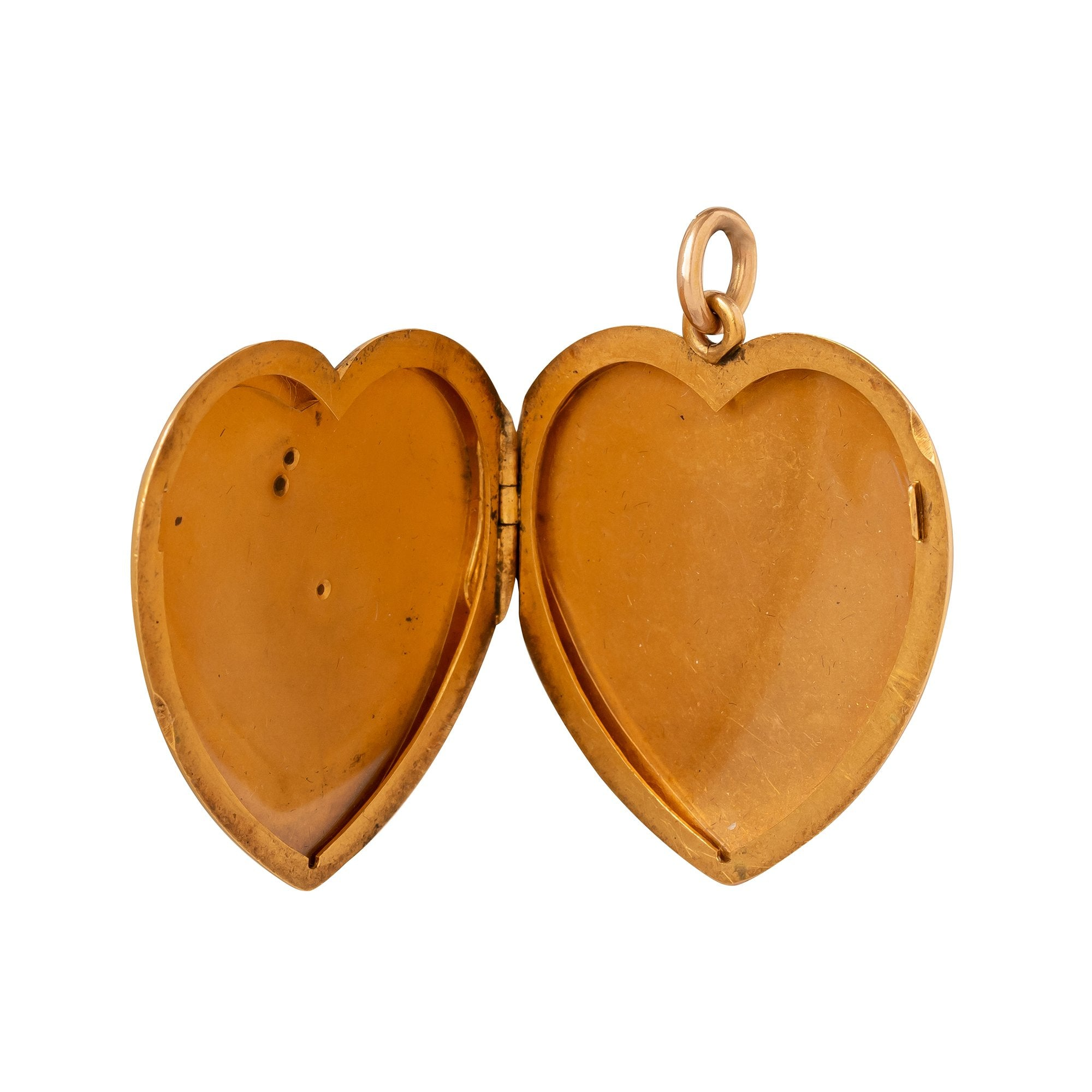 Antique & Vintage Jewelry Art Nouveau Heart Shaped Women Locket - Charms & Pendants - Broken English Jewelry