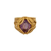 Antique & Vintage Jewelry Amethyst and Gold Ring - Rings - Broken English Jewelry