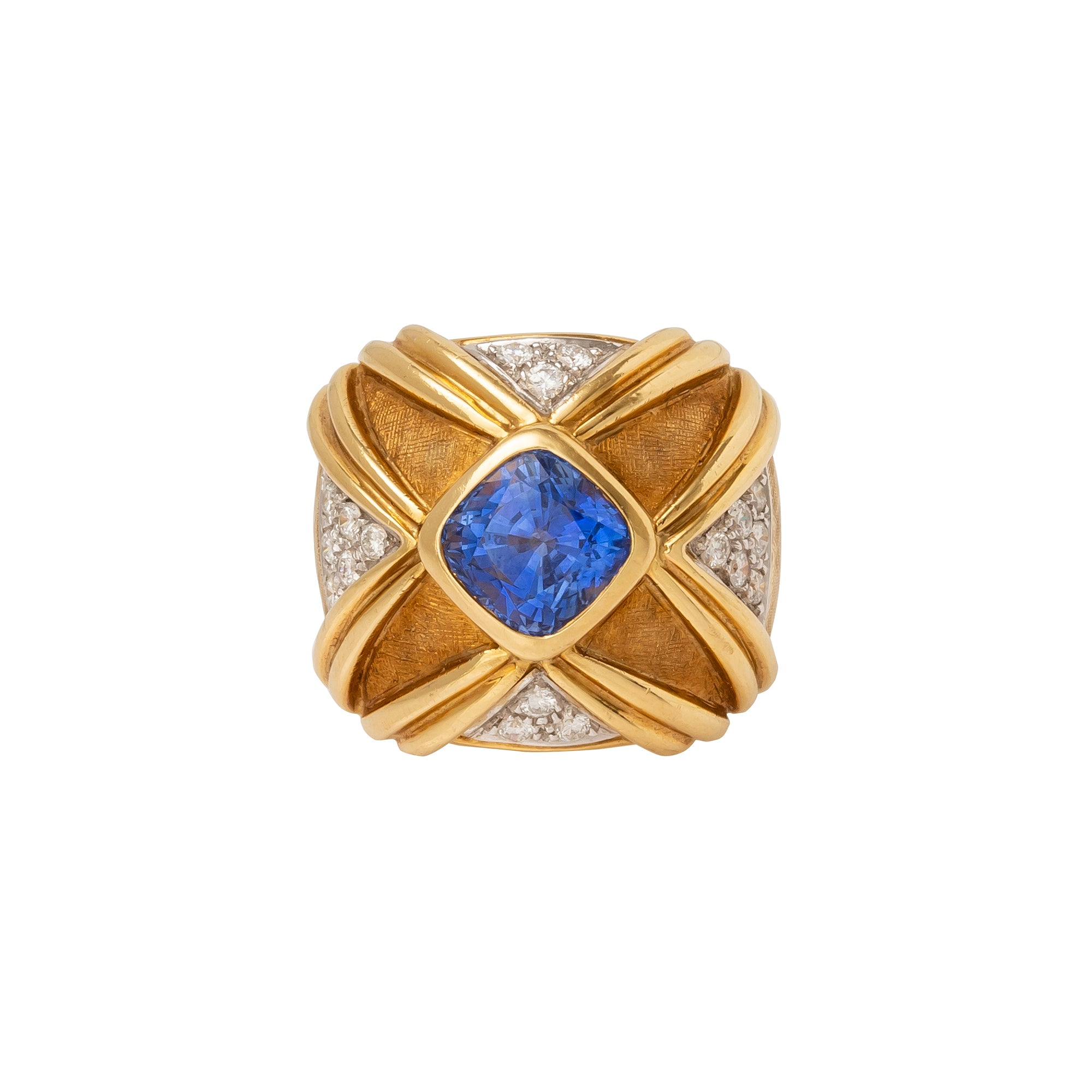 Antique & Vintage Jewelry Vintage Ceylon Sapphire Ring - Ruven Perelman - Earrings - Broken English Jewelry