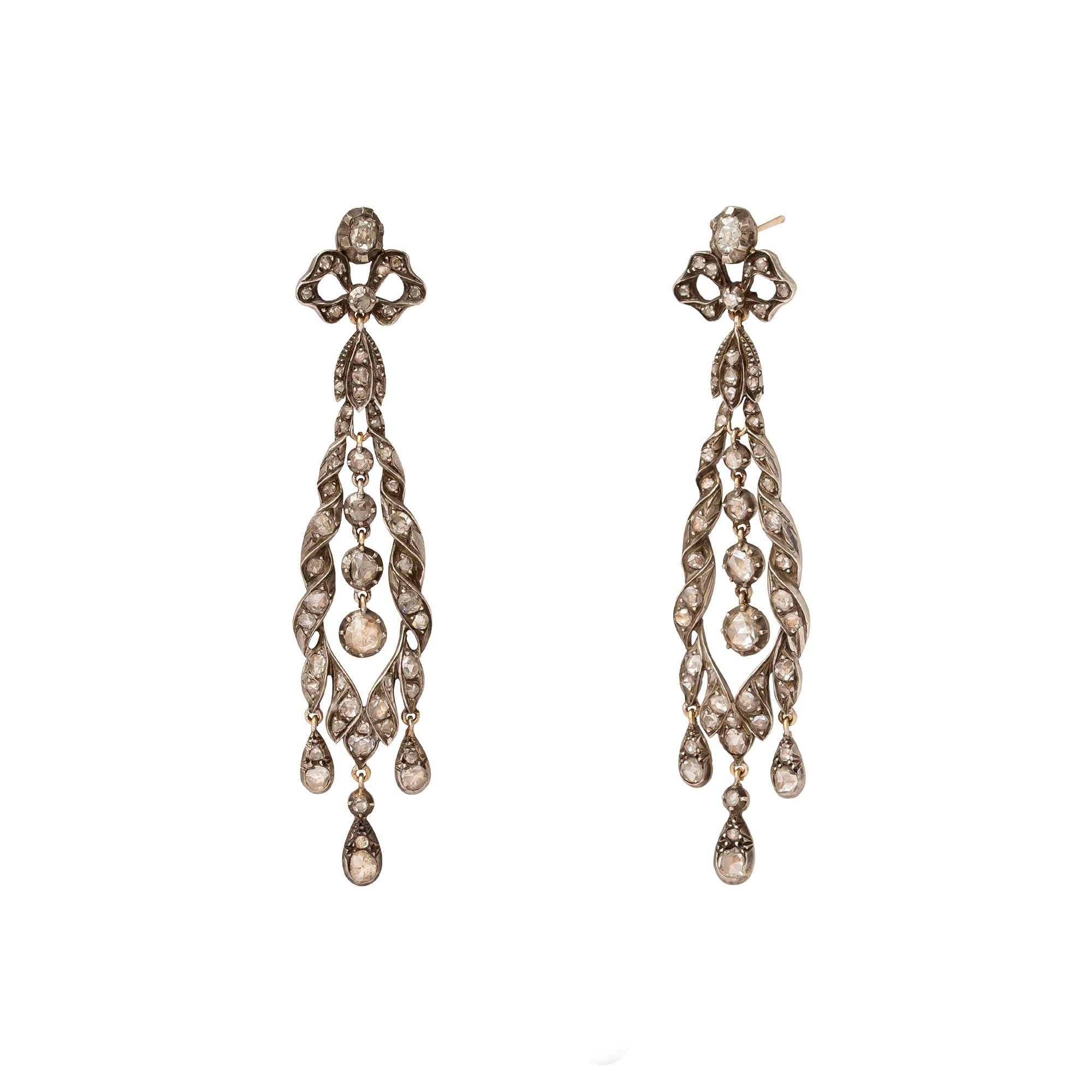 "Antique & Vintage Jewelry 19th Century ""Girandole"" Georgian Earrings - Earrings - Broken English Jewelry"