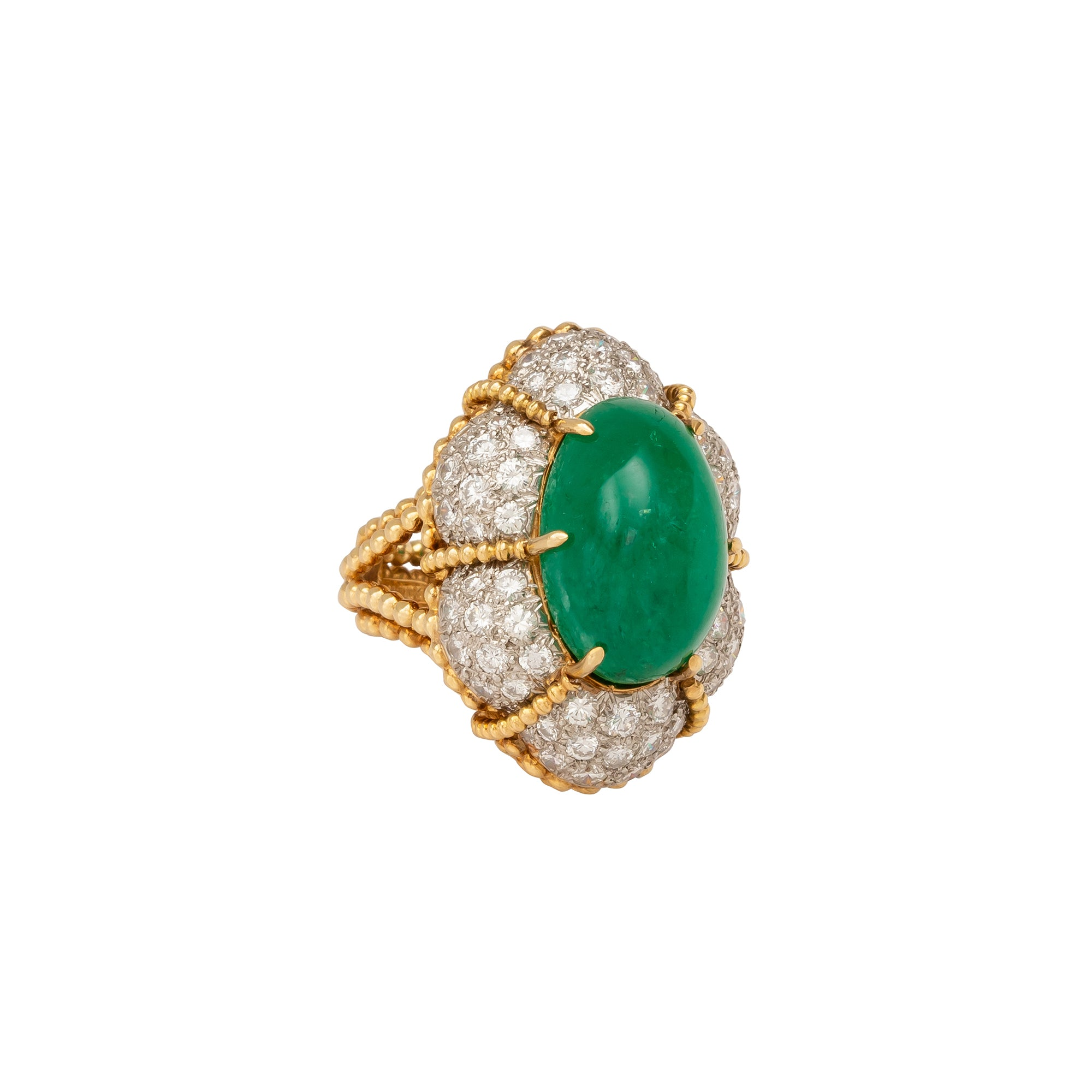 Antique & Vintage Jewelry Emerald Dome Ring - Rings - Broken English Jewelry